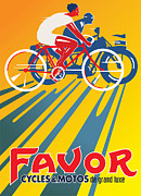 Vector Prints - Favor Cycles Print by Gary Grayson