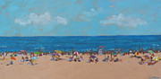 Popular People Paintings - Favorite Beach by Elisabeth Olver