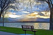 Favorite Bench And Lake View Print by James BO  Insogna