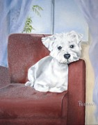 Terrier Posters - Favorite Chair Poster by Beverly Pegasus