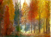 Anne-elizabeth Whiteway Prints - Favorite Fall Watercolor Painting Print by Anne-Elizabeth Whiteway