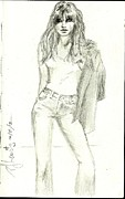 Pretty Drawings Originals - Favorite Jeans by P J Lewis