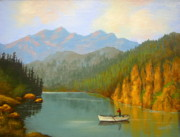 Serenity  Oregon Paintings - Favorite Pastime -  SOLD by Shasta Eone