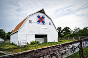 Quilt Barn Prints - Fayette Farmers Daughter Quilt Barn Print by Cricket Hackmann