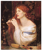 Dante Paintings - Fazios Mistress by Dante Gabriel Rossetti
