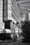 Governmental Framed Prints - FBI Building Modern Fortress Framed Print by Olivier Le Queinec