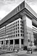 Governmental Framed Prints - FBI Building Rear View Framed Print by Olivier Le Queinec