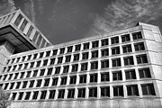 Governmental Framed Prints - FBI Building Side View Framed Print by Olivier Le Queinec