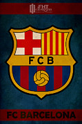 Spanish Football Prints - Fc Barcelona Print by FHT Designs