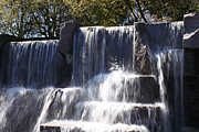 Engraving Prints - FDR Memorial - Washington DC - 01131 Print by DC Photographer