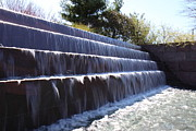 Waterfall Prints - FDR Memorial - Washington DC - 01133 Print by DC Photographer