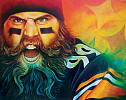 Pittsburgh Steelers Prints - Fear Da Beard Print by Scott Spillman