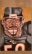 Chicago Bears Paintings - Fear by Lynde Washington