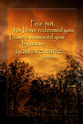 Bible Art Prints Posters - Fear Not Poster by Linda Fowler
