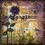 Courage Mixed Media Metal Prints - Fearless Metal Print by Shawn Petite