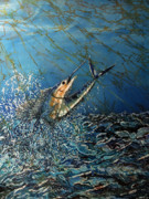 Fishing Tapestries - Textiles Posters - Fearless  Poster by Sue Duda