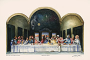 Last Supper Posters - Feast of Dreams Poster by Amber Wanielista