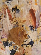 Dried Hydrangeas Prints - Feather Fantasy Print by Nancy Kane Chapman