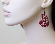 Laser Cut Jewelry - Feathers Earrings by Rony Bank