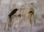 Snowy Painting Originals - February   Crow Moon  Shawnee Tribe by Ethel Vrana