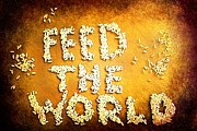 Feed The World Posters - Feed The World Poster by Brian Raggatt