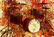 Note Digital Art - Feel Of The Drums by Jack Zulli