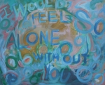 Graffiti Painting Posters - Feel One With You Poster by Tonya Henderson Rollyson