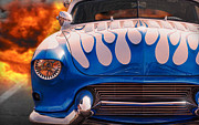 1957 Ford Custom Prints - Feel the Flames Print by Gordon Dean II