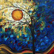 Original Abstract Paintings - Feel the Sensation by MADART by Megan Duncanson