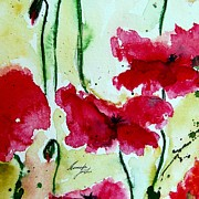 Gruenwald Mixed Media Framed Prints - Feel the Summer 2 - Poppies Framed Print by Ismeta Gruenwald