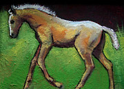 Foal Prints - Feeling Good Palomino Foal Print by Carol Jo Smidt