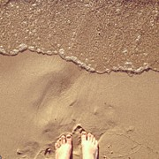 Landscapes Art - Feet on the Beach by Christy Beckwith