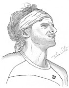 Atp Drawings Metal Prints - Feliciano Lopez Metal Print by Steven White
