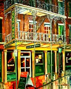 Louisiana Seafood Paintings - Felixs Oyster Bar by Diane Millsap