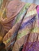 Silk Scarf Tapestries - Textiles Originals - Felt and silk shawl by Miriam Abramowitsch