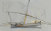 REPRODUCTION - Felucca off Gibraltar