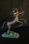 Sculpey Sculptures - Female Centaur with Base by Mark Harris