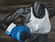 Weightlifter Prints - Female Fighter Print by Danise Abbott