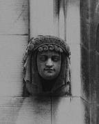 Female Gargoyle University Of Chicago 2009 Print by Joseph Duba