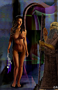 Nude Paintings - Female Nude Digital Fine Art Jean Inanna 7th Gate by G Linsenmayer