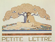 Nude Posters - Female nudes Poster by Georges Barbier
