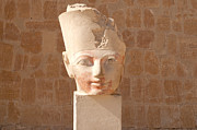 Temple Of Hathor Metal Prints - Female Pharoah Hatshepsut Metal Print by Brenda Kean