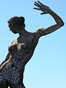 Nude Sculptures Framed Prints - Female Sculpture On San Francisco Treasure Island 5D25339 Framed Print by Wingsdomain Art and Photography