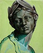 Classical Sculpture Posters - Female Study of Rossio Fountain Poster by Kathleen English-Barrett