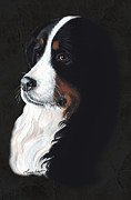 Bernese Mountain Dog Posters - Femme Fatail Poster by Liane Weyers
