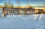 Beach Fence Photo Posters - Fence at the Beach in St Augustine Florida Poster by Michelle Wiarda