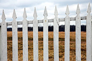 Picket Fence Prints - Fence Print by John Rizzuto