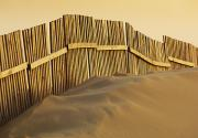 Featured Framed Prints - Fence On Beach Framed Print by Ben Welsh