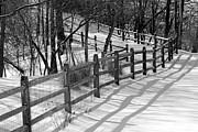 Karen Adams - Fence Shadows in Winter