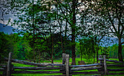 Split Rail Fence Photos - Fenced in Moutains by Dave Bosse